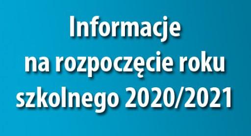 Rozpoczęcie roku szkolnego 2020/21